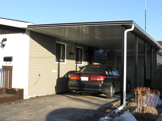 """contemporary 8"""" panel, flat bottom, installed on the fascia board."""