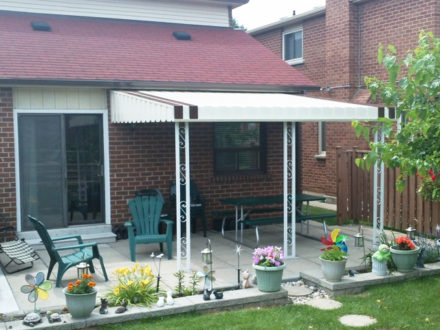 back yard patio cover