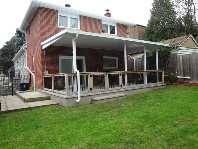 Solid patio covers Front porch without roof