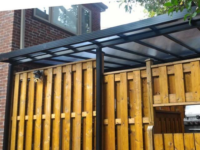 black rail clear roof
