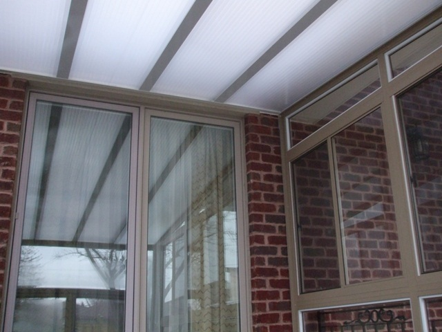 sunroom clear roof, opaque panels