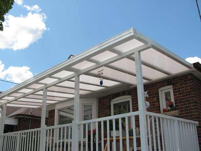 opaque polycarbonate roof, insulated panels and structure shown.
