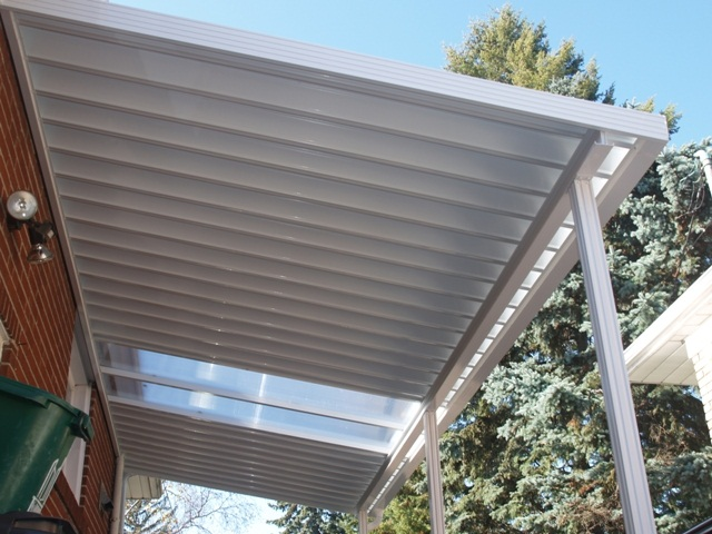 pan roof with polycarbonate insert