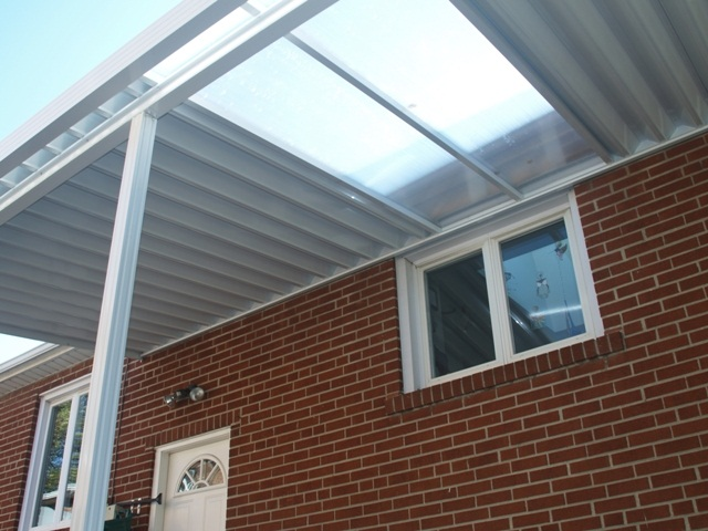 Combination Solid / Clear Patio Cover Using Polycarbonate Clear Panels.