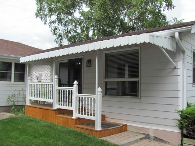 home office entrance awning
