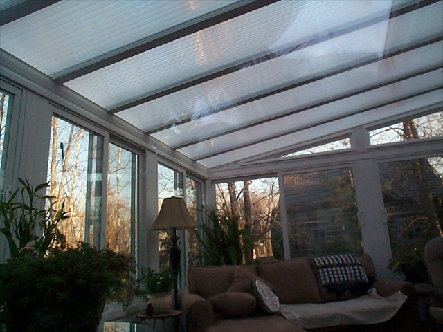 clear sunroom roof