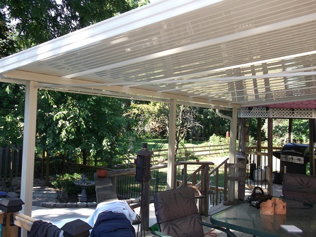 backyard deck canopy.