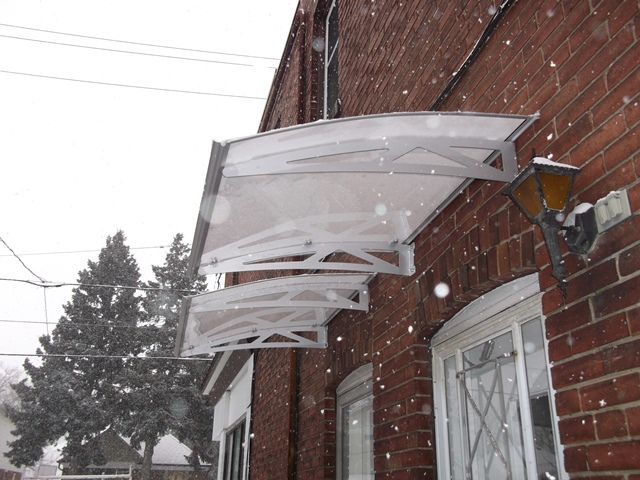 Clear awning in snow