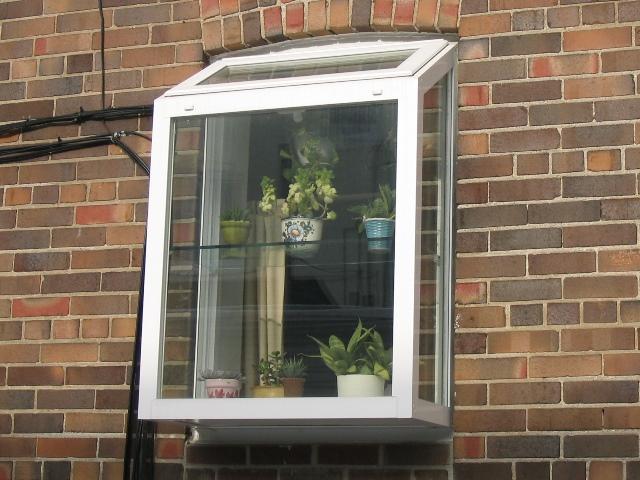 Garden window outside view
