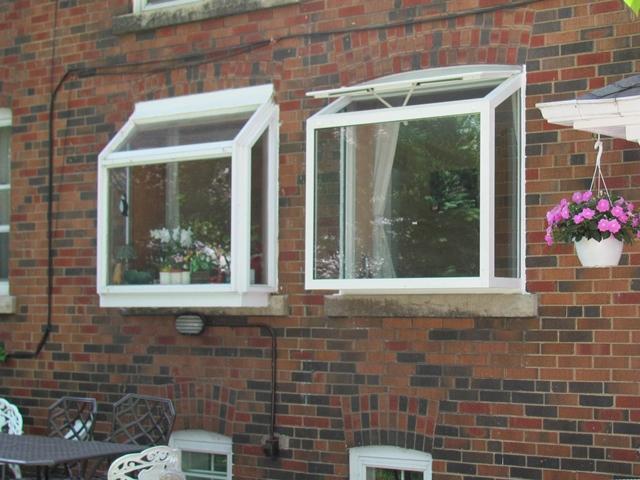 Two garden windows