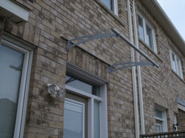 Clear door awning