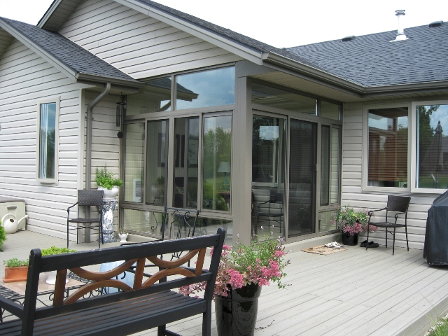 Aluminum sunroom non insulated under existing roof