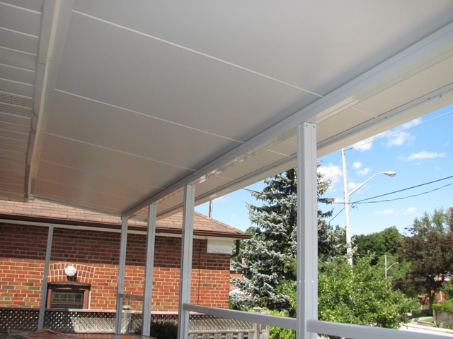 insulated front porch cover.