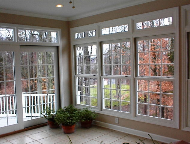 Traditional construction sunroom