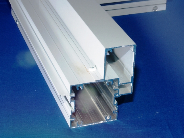 Aluminum extrusion for enclosure posts.