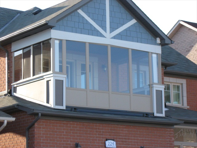 second floor balcony enclosure.