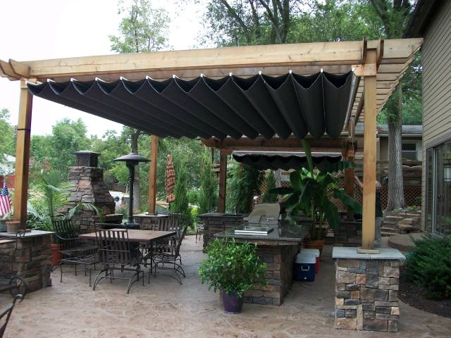 Canopies Retractable Pergola Canopy