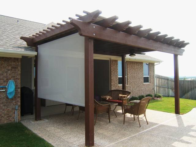 open air pergola side shaded.
