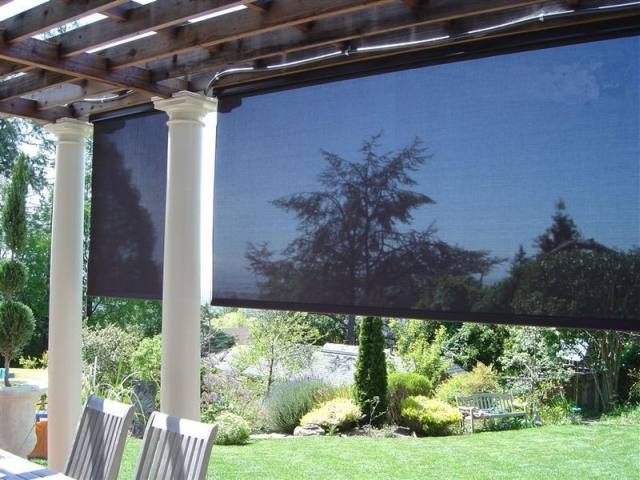 inside view of solar shades.