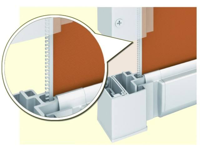 Zipper guide - enclosed screen room.