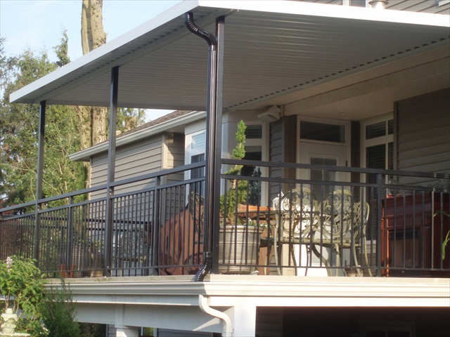 Solid patio covers for Balcony roof ideas